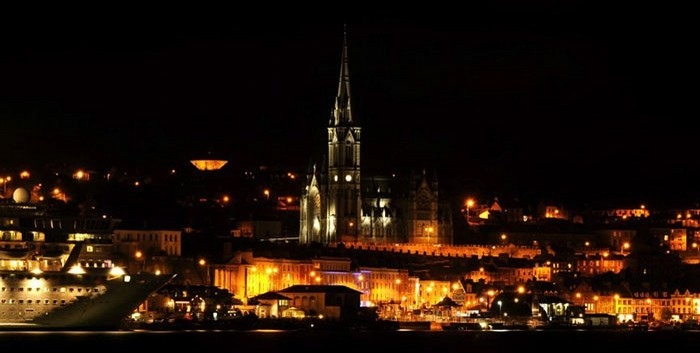 cobh at night